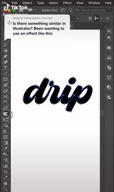 drippy font illustrator tutorial