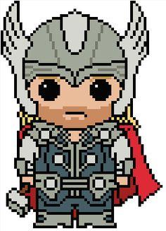 Embroidery : Marvel: Thor Odinson cross stitch pattern