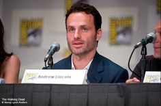 When he's about to answer a question.   56 Situations Where Andrew Lincoln Looks Absolutely Charming