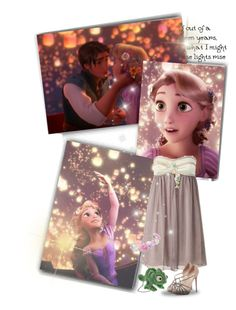 """Lights in the sky"" by priscilla12 ❤ liked on Polyvore featuring Valentino, Disney, rapunzel and Disneyprincess"