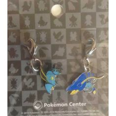 Pokemon Center 2014 Clauncher Clawitzer Set of 2 Charms