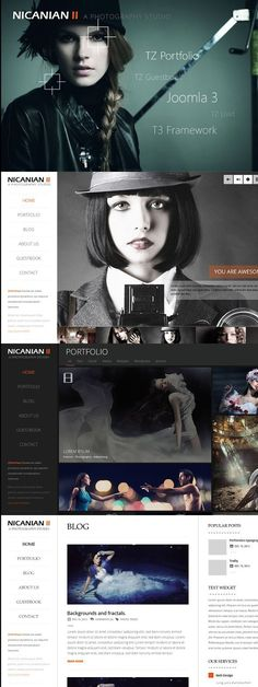 As a continuation of the first released Nicanian with Joomla Nicanian II is continued to be improved based on the the idea of a photography studio. Responsive Template, Joomla Templates, Joomla Themes, Video Full, Photo Displays, Simple Way, Wordpress Theme, First Time, Photography
