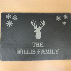 Personalised slate Christmas centrepiece. 30cm x 20cm  £12.50 with your name added