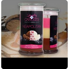 First - Strawberry Juicy sweet scent of handpicked strawberries, with a touch of vanilla cream...  Second - Vanilla A classic scent that calls to mind the warm memories of home, comfort, and family. Simply vanilla, simply wonderful! Third - Chocolate This candle fills your home and senses with the rich scent of creamy milk chocolate, creating an inviting ambiance and leaving your mouth watering! Calling all chocolate lovers! A guilt-free way to indulge in the decadence– without the calories.