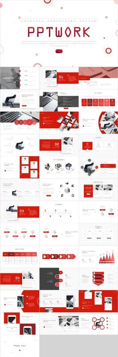 Best Red business Report PowerPoint template on Behance Simple Powerpoint Templates, Professional Powerpoint Templates, Keynote Template, Web Design, Creative Design, Design Art, Graphic Design, Business Presentation, Presentation Design