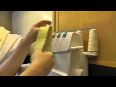 Serger tension solution, Really cool way to fix serger tension.