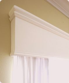 DIY wooden cornice using moulding