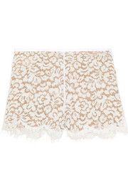 Michael KorsCotton-blend lace shorts