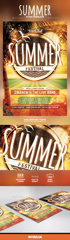 Summer Flyer  Flyer Template Party Flyer And Template
