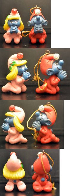 Smurfs 19243: Rare Praying Smurf And Smurfette 1982 Peyo Schleigh W. Berrie And Co. Made Portugal -> BUY IT NOW ONLY: $99.99 on eBay!
