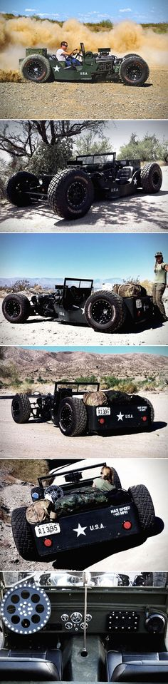 When Classic WW2 Jeep Meets Rat Rod and You Get the Military-Themed 1945 Willys Jeep Rat Rod