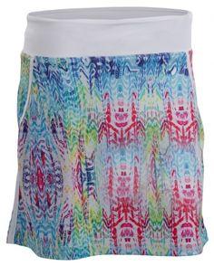 White Multi Nancy Lopez Ladies & Plus Size Birdie Golf Skort available at #lorisgolfshoppe