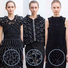 Smocking, Macramé and Modular Patterns at Noir Kei Ninomiya | The Cutting Class. noir kei ninomiya, AW15, Paris, Image 1. Different individual units repeated to create intricate designs.