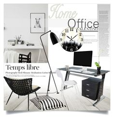 """""""Home Office"""" by clotheshawg ❤ liked on Polyvore featuring interior, interiors, interior design, home, home decor, interior decorating, M&Co, Palecek and home office"""