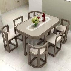 Unique Dining Tables To Make The Space Spectacular - Engineering Discoveries Space Saving Dining Table, Dinning Table Design, Unique Dining Tables, Dining Table Chairs, Bedroom Furniture Design, Unique Furniture, Home Decor Furniture, Kitchen Furniture, Wooden Sofa Designs