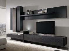 Living Room Wall Units, Living Room Tv Unit Designs, Home Living Room, Living Room Decor, Tv Cabinet Design Modern, Tv Wall Design, Modern Tv Room, Modern Tv Wall Units, Tv Unit Furniture