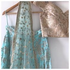 """256 Likes, 7 Comments - The Peach Project By Ayesha (@thepeachproject_by_ayesha) on Instagram: """"*New Arrivals* The Firoza Lehenga Set is so perfect for them engagement brunches! """""""