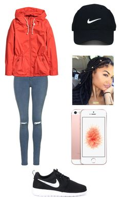 """Untitled #842"" by qveenkyndall16 ❤ liked on Polyvore featuring Topshop, H&M, Nike Golf and NIKE"