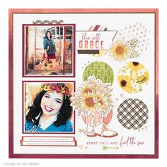 Create a piece of artwork that showcases your beautiful family photos (and your creativity too!). It's time to get scrapbooking! #scrapbooking #crafting Farm Gardens, Stand Tall, Beautiful Family, Close To My Heart, Family Photos, Scrapbook, Create, Artwork, Family Pictures