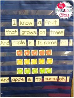 My Fabulous Class: What Worked Wednesday - Shared Reading Preschool Poems, Preschool Apple Theme, Kindergarten Songs, Apple Activities, Autumn Activities For Kids, September Preschool Themes, Toddler Storytime, Apple Unit, Shared Reading