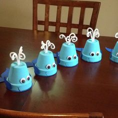 Whale Theme Baby Shower, Cute Center Pieces.