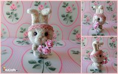 Aurelia, needle felted bunny by MJ Crafts