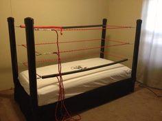how to make a diy wwe wrestling bed under 100 - Wrestling Bedroom Decor