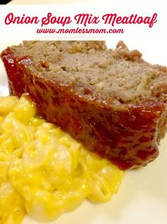 Make your own onion soup meatloaf with this simple recipe! A perfect meal idea your family will love this fall! recipe with onion soup mix Onion Soup Meatloaf- Perfect Meal Idea for Fall! Lipton Meatloaf Recipe, Onion Soup Meatloaf, Classic Meatloaf Recipe, Meatloaf Recipes, Recipe For Meatloaf, Easy Meatloaf Recipe Onion Soup Mix, Onion Soup Mix Recipe Chicken, Salisbury Steak Casserole Recipe, Chicken Salad