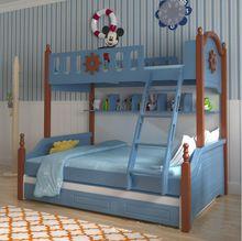 Webetop Estilo Mediterráneo Muebles Camas Litera para Niños Dormitorio Muebles Para el Hogar de Dibujos Animados Compuesto La Madre y Los Niños Cama(China (Mainland))