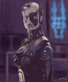 Seven of nine artwork Great Love Stories, Love Story, Star Trek Borg, Seven Of Nine, Star Trek Voyager, Deadpool, Sci Fi, Joker, Superhero