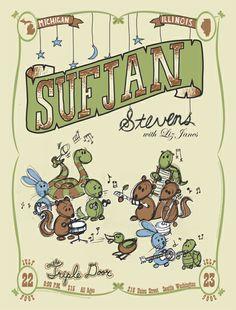 Sufjan Stevens - Liz Janes / gig poster by Synesthetic Studio