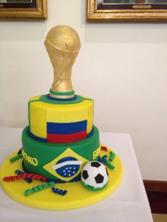 Torta de cumpleaños para hincha de futbol. candelaria Mandinga