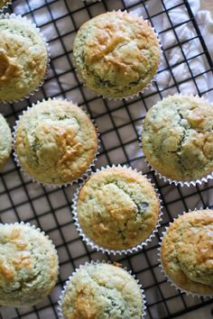 Gluten-Free Blueberry Rhubarb Muffins - dairy-free and naturally sweetened #healthy #breakfast #recipe