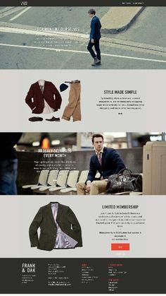 Mens' #apparel store #website #design