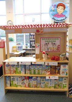 Themahoek boerderijwinkel Role Play Areas, Primary School, Pinterest Marketing, Social Media Marketing, Holland, Kindergarten, Teaching, Children, Projects