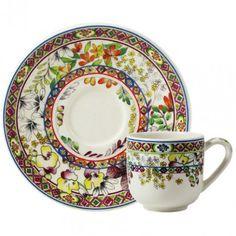 Bagatelle - 2 Tasses et soucoupes moka - Thé et café - Pour la table