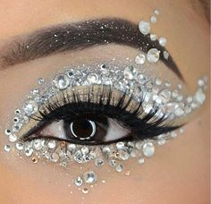 # Silver eye makeup