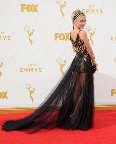 It doesn't get much prettier than Julianne Hough in a sheer black ballgown