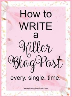How to write a kille