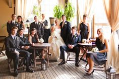 Love this bridal party seating photo