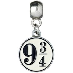 Official Harry Potter Jewellery Platform 9 3/4 Charm Bead ($6.68) ❤ liked on Polyvore featuring jewelry, pendants, charm jewelry, charm pendants, bead charms, beading jewelry and beads jewellery