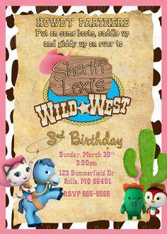 Twins Birthday Invitation Card Sherriff Callie By Twinsbdaydesign