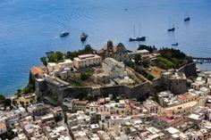 Lipari Island, Aeolian Islands, Sicily, Italy\ photographer- Yann Athus-Bertrand. Aerial filming.