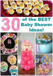 of the BEST Baby Shower Ideas! Over 30 of the BEST Baby Shower Ideas…including Decorations, Food, Games, Gifts, and more! These ideas are so cute and easy to make! Baby Shower Favors, Shower Party, Baby Shower Parties, Baby Shower Themes, Baby Shower Appetizers, Baby Shower Goodie Bags, Baby Shower Cupcakes Neutral, Cute Baby Shower Ideas, Diy Baby Shower Decorations