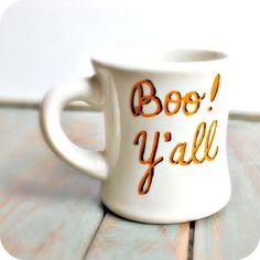 * Boo Y'all Halloween Coffee Mug Christmas Gift by aamadewithlove, $12.50