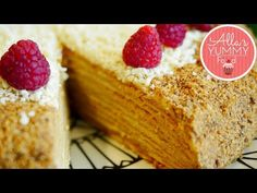 This is the Best Honey Cake Recipe for all occasions. Consisting of layers of honey dough with creamy buttercream, this luxurious cake is perfect with te Caramel Recipes, Honey Recipes, Baking Recipes, Russian Desserts, Russian Recipes, Best Honey Cake Recipe, Cupcake Recipes, Dessert Recipes, Russian Honey Cake