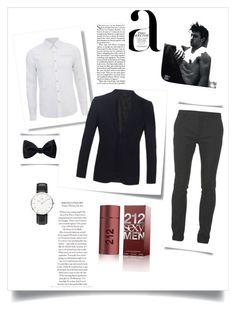 """Untitled #39"" by ali-sifet-r ❤ liked on Polyvore featuring Ike Behar, Post-It, Scotch & Soda, Burberry, Balmain, Daniel Wellington, Carolina Herrera, Nico, men's fashion and menswear"