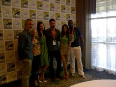 With David Strathairn, Laura Mennell, Warren Christie, Azita Ghanizada and Malik Yoba at San Diego International Comic Con Laura Mennell, Warren Christie, San Diego, David, Comics, Couple Photos, Comic Con, Couple Shots, Couple Photography