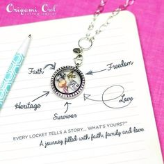 Design a custom locket just for you or that special someone.  If you'd like to place an order you can do that directly through my site at www.jenniferc.origamiowl.com.  To host a party (in person or online), have some questions or just more comfortable having me put in your order; message me through my Facebook site at www.facebook.com/jenniferc.owl or send me an email at jenniferc.owl@gmail.com.