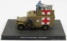 EDICOLA BONDCOL127 Skala: 1/43  DODGE M-43 TRUCK AMBULANCE 1964 - 007 JAMES BOND - GOLDFINGER BROWN
